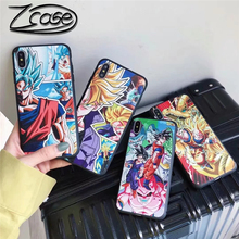 Japan Cute Cartoon Goku Dragon Ball Case For iPhone X XS Max XR 7 8 6 6s Plus 3D Relief Soft Silicon TPU Phone Cover Coque Capa цена и фото