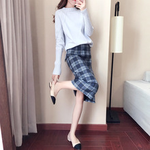 Skirt WOMEN'S Dress Autumn Korean-style Fashion Fresh And Sweet Versatile Casual Pleated Skirt a Generation of Fat 9021