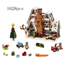 Girl Friends Series Gingerbread House Compatible Legoinglys Creator Friends 10267 Building Blocks Toys for Kids Christmas Gift lepin toys 17003 creator expert sydney opera house 2989pcs building blocks australia s architectural compatible with legoinglys