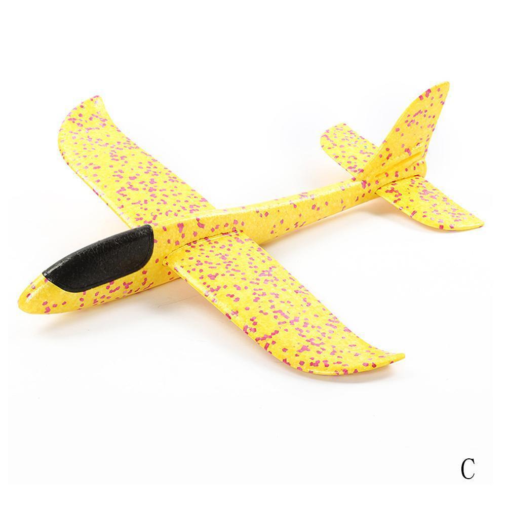 Ручной бросок самолет летающий планер самолеты EPP самолет из пеноматериала модель вечерние сумки наполнители детские игрушки открытый запуск игры игрушки 37or 48 см - Цвет: 48CM