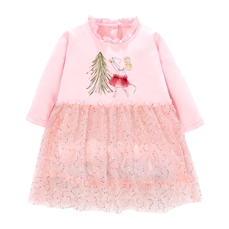 Little Maven Brand Baby Girls Clothes Winter Black Unicorn Cotton Print Toddler Girl Christmas Dresses for Kids 2-7 Years S0908 5