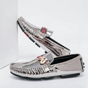 Image 2 - Mocassins italiens en cuir véritable pour homme, chaussures élégantes et tendance, décontracté, grande taille, EUR 38 48