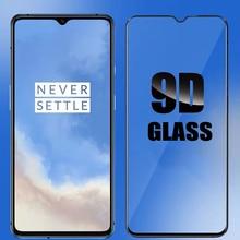 Yeni 9D temperli cam oneplus 7T 7 ekran koruyucu tam kapak oneplus temperli cam oneplus 7 t cam koruyucu film