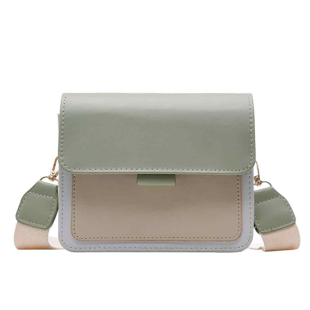 Kulit Mini Tas Selempang untuk Wanita 2019 Hijau Rantai Messenger Bahu Tas Travel Wanita Dompet Tas Tangan Tas Selempang