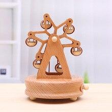 Креативная деревянная карусель, украшение дома, музыкальная шкатулка, Рождество, День Святого Валентина, год, друзья, пара, подарок на день рождения 2