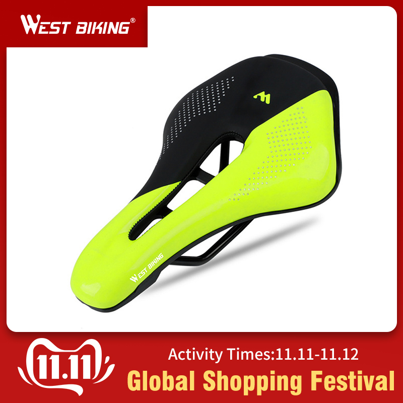 WEST BIKING Bicycle Saddle Bike Seat Wear-resistant PU Breathable Road Part Cycling