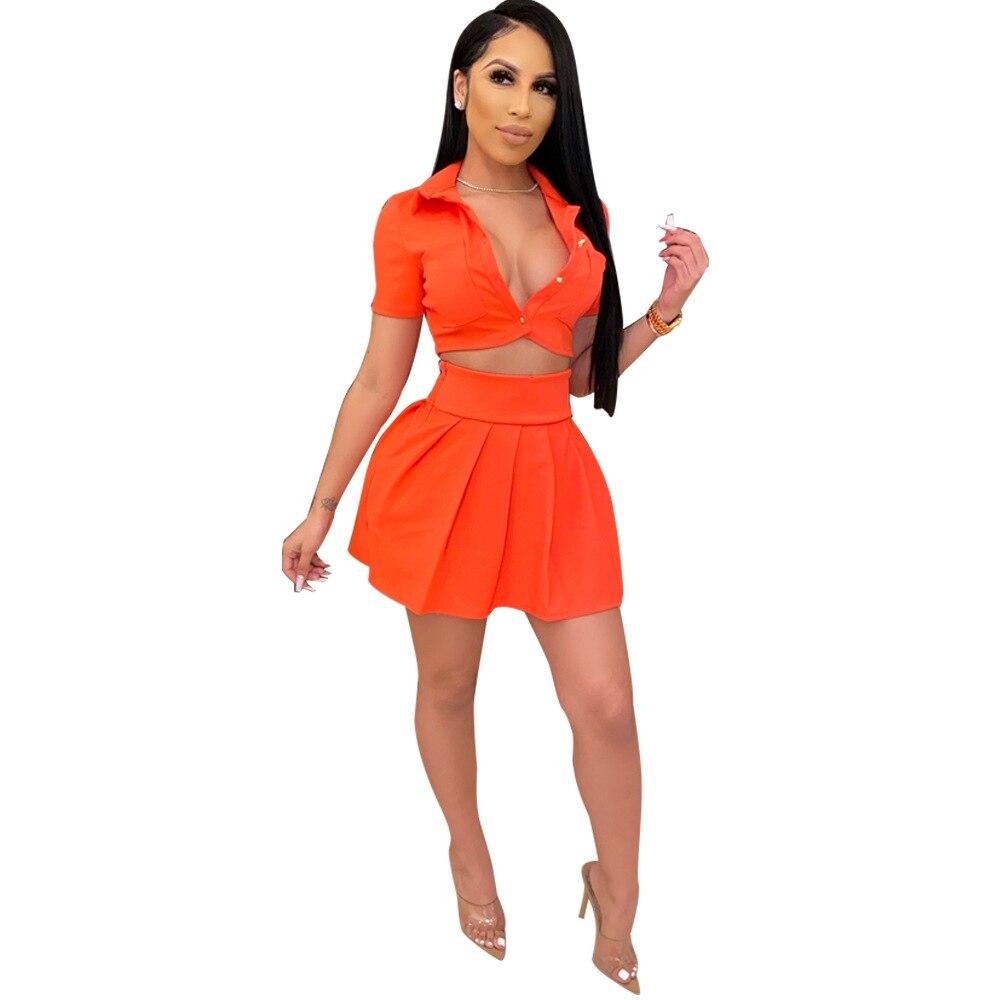 Adogirl Women Skirt Two Piece Set