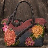Genuine Leather Handbags Ladies Shoulder Messenger Bag Cow Leather Handmade Womans Bags luxury handbags women bags designer