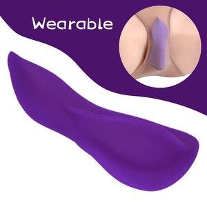 10-modes Clitoral Vibrating Sex Product Vaginal G-spot Stimulator Wearable Silicone Dildo Female Masturbator Sex Toys for Woman