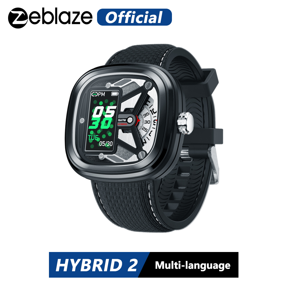 Zeblaze Hybrid 2 Smartwatch Heart Rate 50M Waterproof 0.96'' IPS Fashionable and Stylish Industrial Elements Long Battery Life image