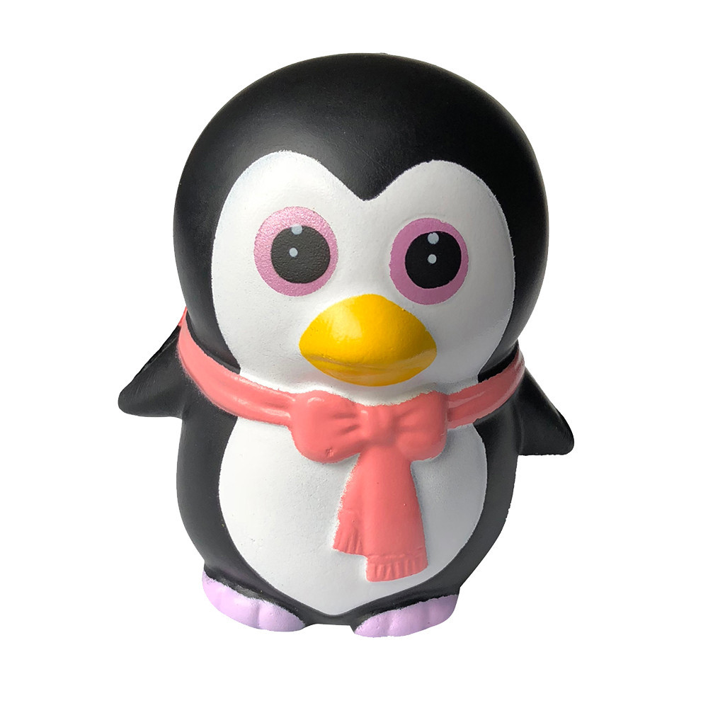 Adorable Penguin Slow Rising Cream Squeeze Stress Relief Toys Vent Decompression Toy Baby Educational Kids Toys Doll #A