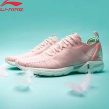 Li-ning mulher super leve xvi almofada tênis de corrida de espuma leve respirável mono fio forro li ning sapatos esportivos arbp012