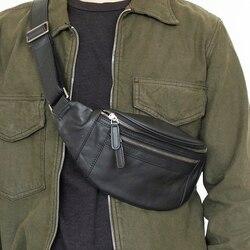 LANSPACE sac de taille en cuir pour hommes sac en cuir véritable détresse hommes sac