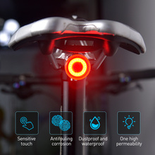 Bicycle Touch Smart Sensor Taillight Brake Vibration Induction Bike Rear Light USB Fast Charge MTB Road Bicycle Tail Light