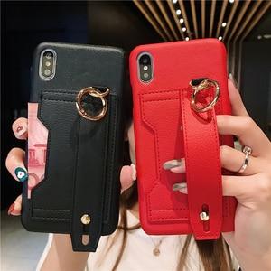 Image 2 - Moda yaratıcı bileklik gelgit telefon kılıfı için iphone X XR XS MAX 6 6S 7 8 artı paramparça dayanıklı braket saklama kutusu arka kapak