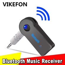 VIKEFON Adaptador de Audio estéreo con Bluetooth 3,5mm, AUX, transmisor MP3 para coche, Adaptador inalámbrico para altavoz y auriculares