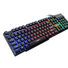 coolcold wired usb keyboard mechanical feeling 104 keycaps gaming keyboard waterproof backlit teclado mecanico ydl g 1 usb 2 0 wired 114 key backlit gaming keyboard black