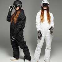 Nuevo mono impermeable para mujer snowboard traje de esquí de alta calidad para hombres y mujeres chaquetas de esquí + Pantalones trajes de esquí al aire libre
