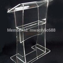 Стабильная Красивая фирма современный дизайн дешевая прозрачная акриловая Трибуна украшение из оргстекла
