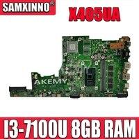 SAMXINNO Asus X405U X405UA X405UN X405UR X405URR X405UQ X405URP X405UF Laotop 메인 X405UA 마더 보드 8GB RAM I3-7100U
