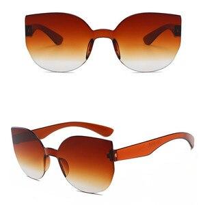 Image 3 - TTLIFE New Fashion Women Cat Eye Sunglasses Luxury Brand Designer Sun Glasses  Candy Color Mirror Eyewear Oculos De Sol YJHH0207