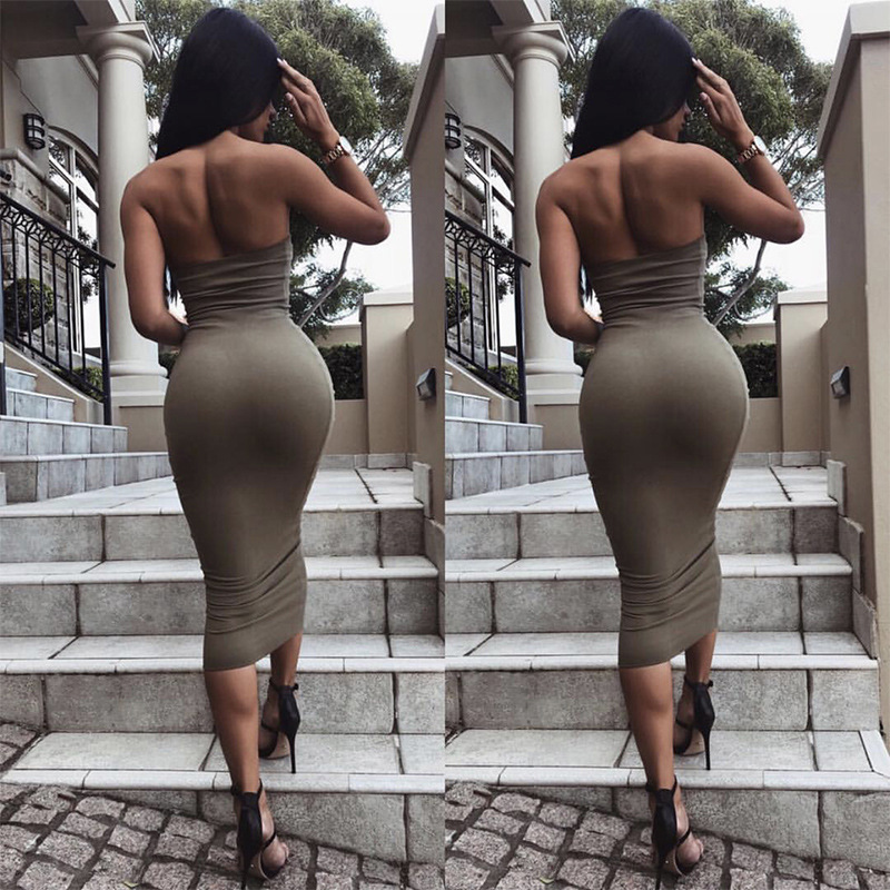 Sexy Suit-dress women summer Close Dress fashion woman clothes Tube Top Lady Skirt