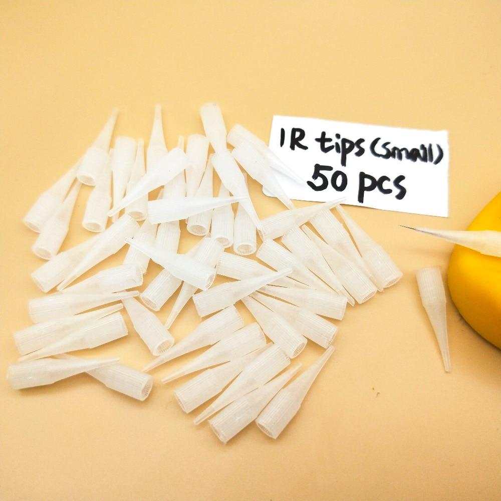50PCS Small 1RL Needle Tips Disposible Gaintsun/Sunshine Tattoo Machine Needle Caps For Permanent Makeup