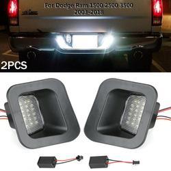 2x tablica rejestracyjna LED lampy na tylni zderzak lampy LED dla Dodge Ram 1500 2500 3500 2003 2018 Auto oświetlenie tablica rejestracyjna światła w Tablica rejestracyjna od Samochody i motocykle na