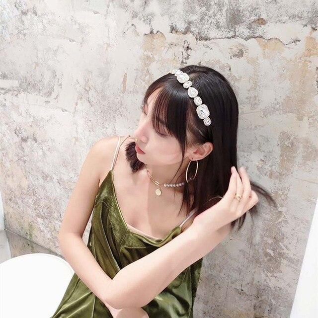 2020 красочные стразы обручи для волос с драгоценными камнями фотография