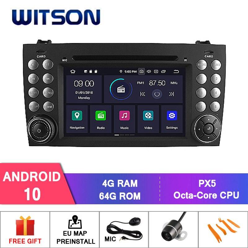 DE Estoque! Witson px5 android 10 ips carro dvd para benz r171 w171 slk r171 slk200 4gb ram + 64gb 8 octa núcleo + dvr/wifi + dsp + dab