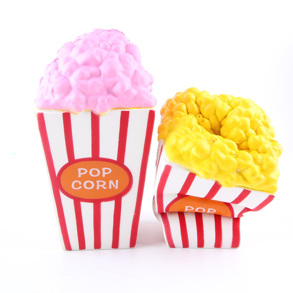 Cartoon Cute  Popcorn Squeeze Slow Rising Fun Toy Relieve Stress Cure Gift Random Color Stress Reliever Toy For Kids L107