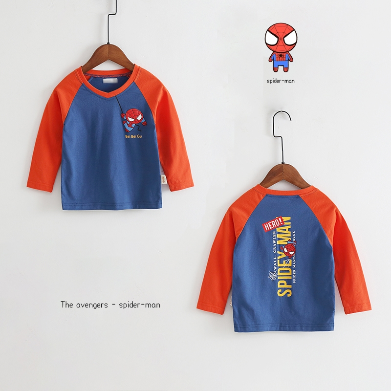 New Spring Boys Girls Cartoon Cotton T Shirts Children Tees Boy Girl Long Sleeve T Shirts Kids Tops Brand Baby Clothes 12M-8Y 47