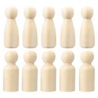 10 шт. 24*65 мм деревянные раскрашенные куклы для мальчиков и девочек колышки для кукол Неокрашенные Фигурки DIY товары для рукоделия