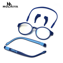 Eyewear Frames Clear-Glasses Anti-Blue light Round Girls Flexible Children Boys Silicone