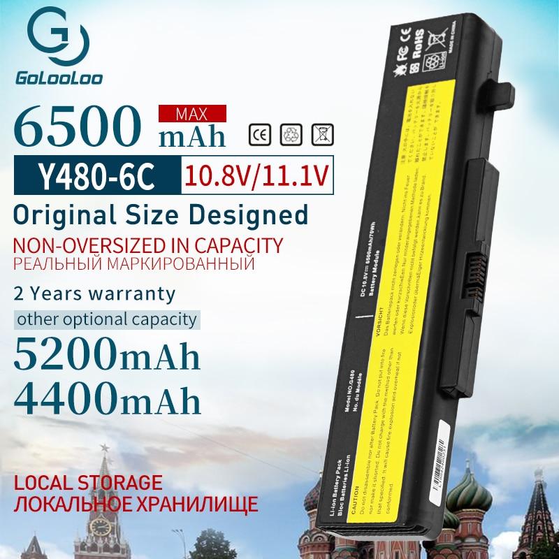 Golooloo 6 Cells Laptop Battery For LENOVO G580 Z380 Z380AM Y480 G480 V480 Y580 G580AM L11S6Y01 L11L6Y01