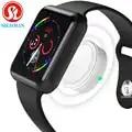 Умные часы, подключенные к Bluetooth наручные Смарт часы для Apple iOS iPhone samsung sony huawei Xiaomi LG Android Phone (красная кнопка)