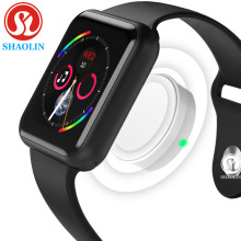 цена на Smart Watch Connected Bluetooth Wrist Smartwatch for Apple iOS iPhone Samsung Sony Huawei Xiaomi LG Android Phone (Red Button)
