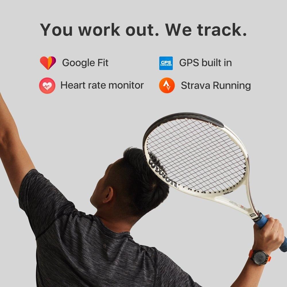 TicWatch Pro argent montre intelligente affichage en couches montre Bluetooth avec GPS paiement NFC IP68 Google Play Original - 5