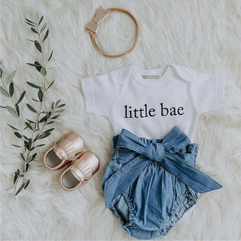 0-18M Newborn Baby Girl Clothes Sets Romper Bodysuit Tops Bow Shorts Pants 2pcs Baby Girl Summer Clothing Outfits