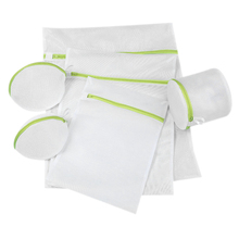 Buy 2019 New Washing Home Use Green Six-piece Underwear Bra Wash Bag Thickening Fine Mesh Laundry Bag Machine Wash Special Mesh Bag directly from merchant!