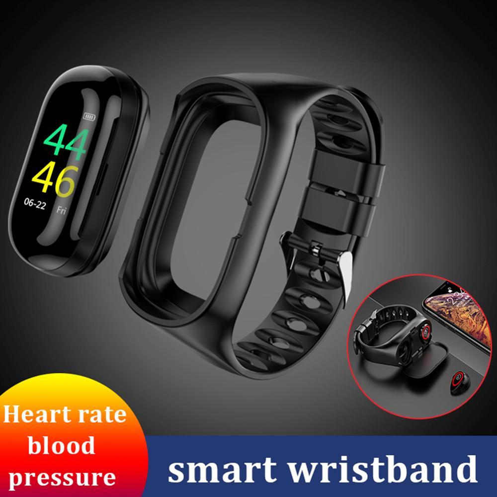 Новые умные часы M1 AI с Bluetooth наушниками, пульсометром, смарт браслет с длительным временем работы в режиме ожидания, спортивные часы для мужч