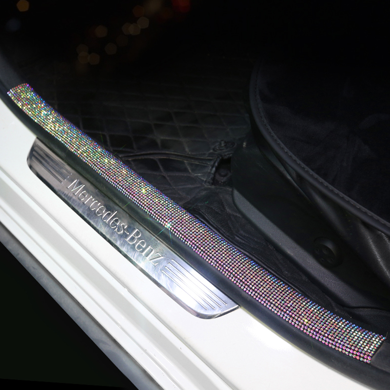 Car 3M Sticker Car Multi-function Threshold Protective Sticker Rhinestone Tape Car Protection Scratch-resistant