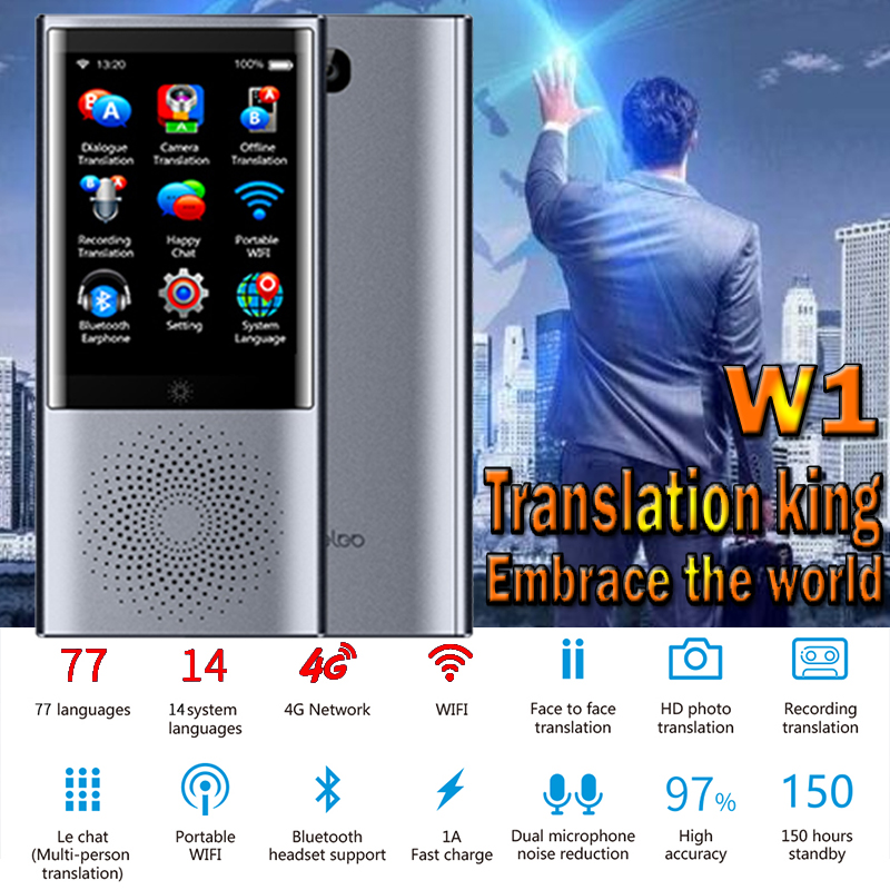 Portable AI Smart Voice Translator Traductor De Idiomas En Tiempo Real 76 Language Instant Translator Photo Offline Translation