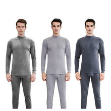 2019 New Seek Thermal Underwear For Men Long Johns Winter Women Thermo Shirt+Pants Set Warm Cotton Thin Section Merino(China)