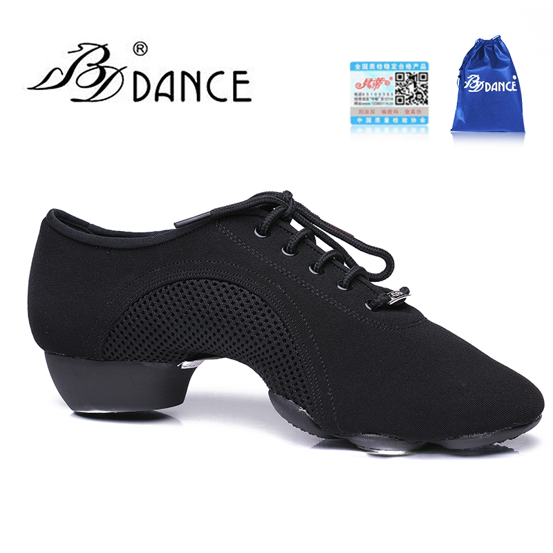 TOP BDDANCE Latin Dance Shoes  WOMEN SHOE Jazz Modern Oxford Cloth Non-slip Rubber Sole BD JW-1 Sweat Durable Clearance FREE BAG