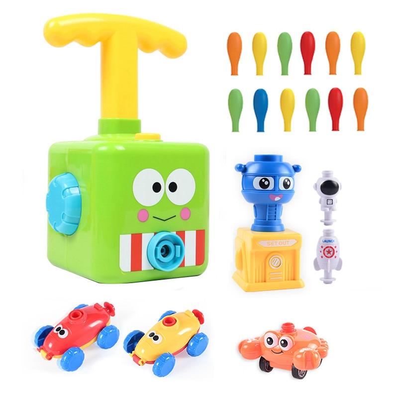 Dos-en-uno globo de poder coche juguete lanzador de globos de - Vehículos de juguete para niños