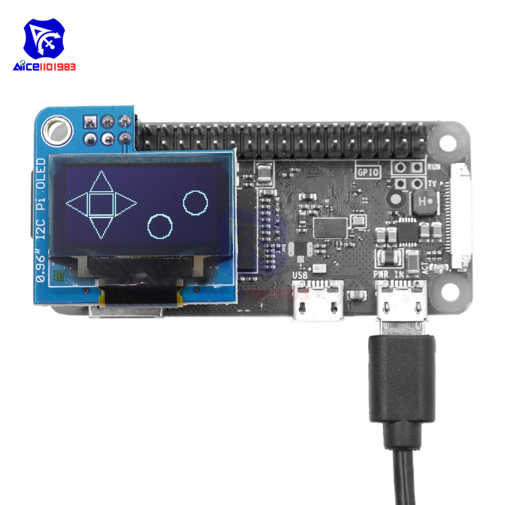 diymore 0.96 <font><b>Inch</b></font> I2C Pi OLED <font><b>LCD</b></font> <font><b>Display</b></font> Module 128x64 SSD1306 Driver for Raspberry Pi <font><b>1</b></font>, B+, Pi 2, Pi 3 and Pi Zero image