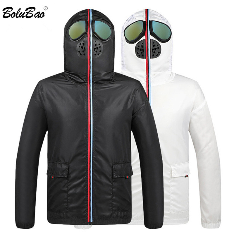 BOLUBAO Brand Men's Jackets Anti Fog Hooded Male Jacket Coats Fashion Prevent Virus Thin Jacket Men Sun Protection Clothing