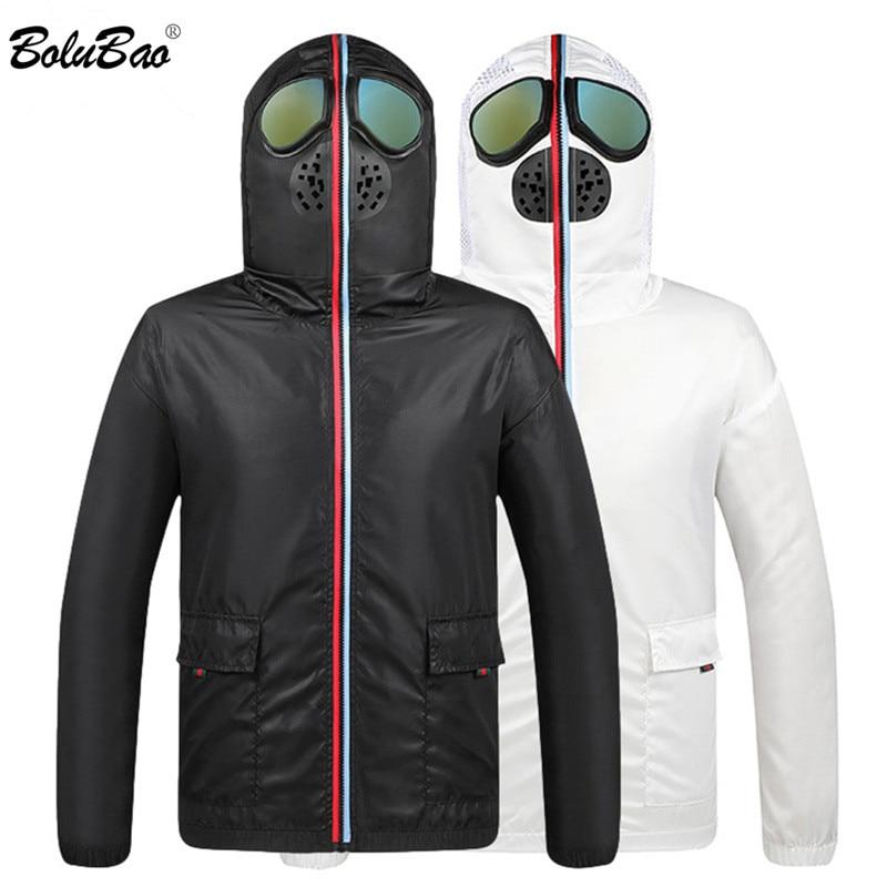 BOLUBAO Brand Men's Jackets Anti Fog Hooded Male Jacket Coats Fashion Prevent Virus Thin Jacket Men Sun Protection Clothing