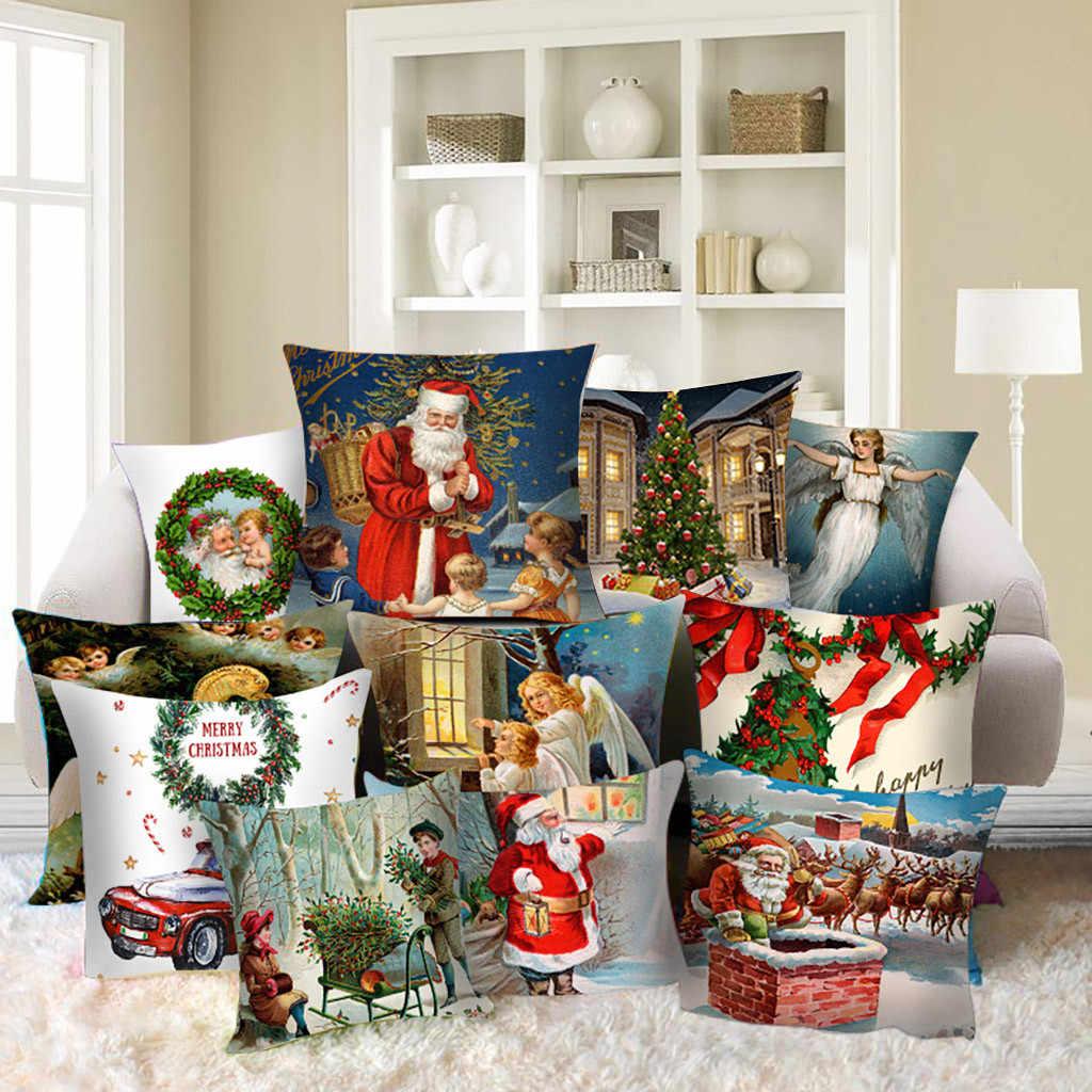 クリスマス秋枕カバー枕ケース 45*45 投げるカバー抱き枕家庭用